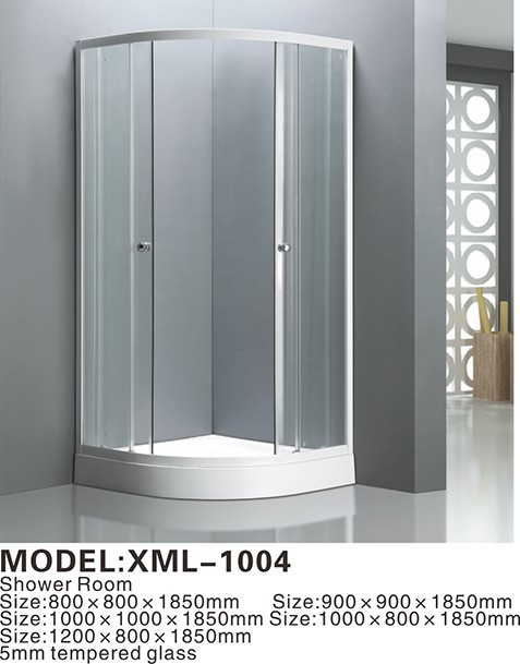 Eco-friendly self-cleaning free standing frosted glass shower