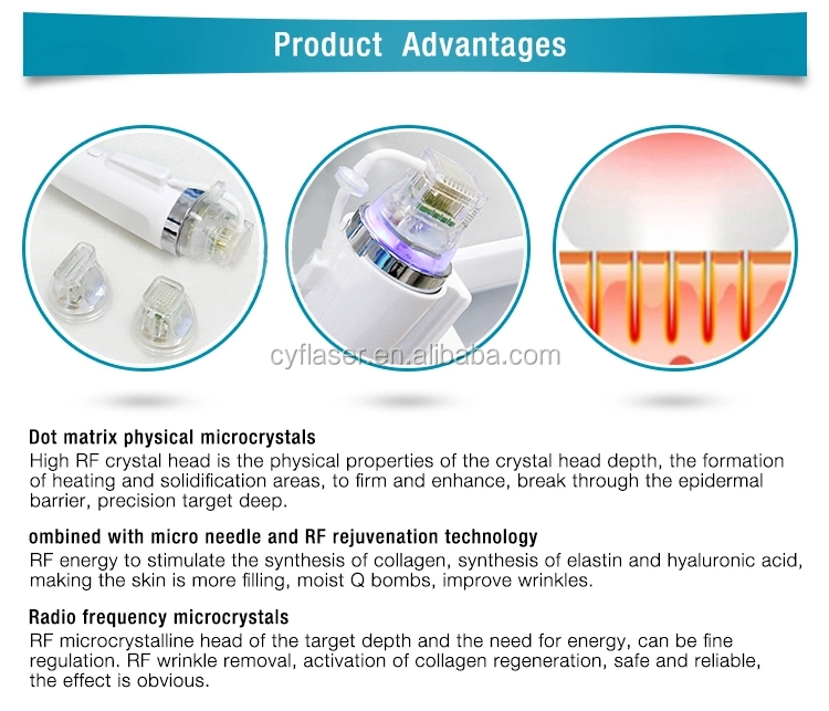 Portable Fractional Microneedle RF Machine Face LIfting& Wrinkle Removal  Equipment Beauty Device micro needle therapy