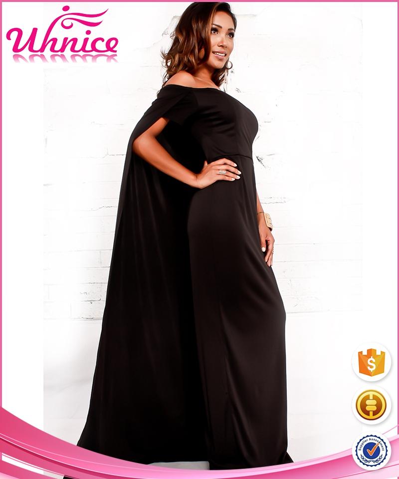 Zwarte jurk met leren stukken