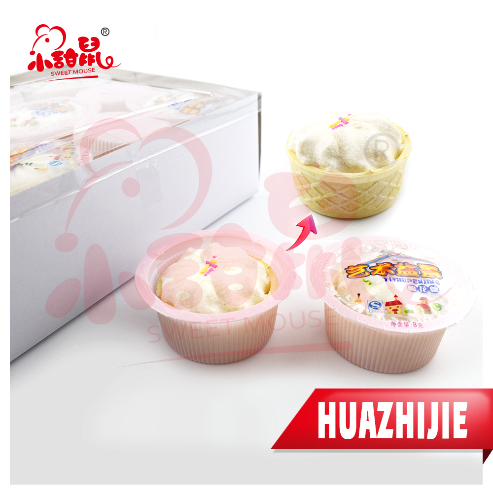 675201611 Lovely Birthday Cake Shape Marshmallow Candy For Sale
