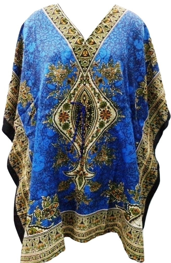 RiSi Women's Kaftan, Short V-Neck Top, Kimono Tunic Kaftan Dress