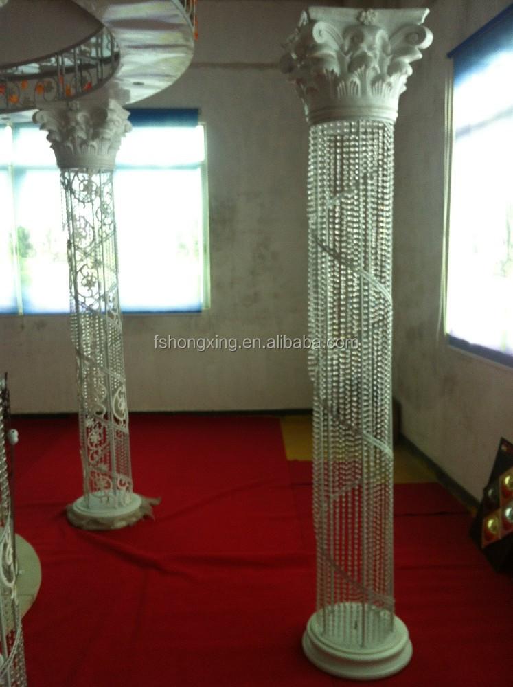 Lumineux moderne de mariage d coration en cristal pilier for Pilier moderne
