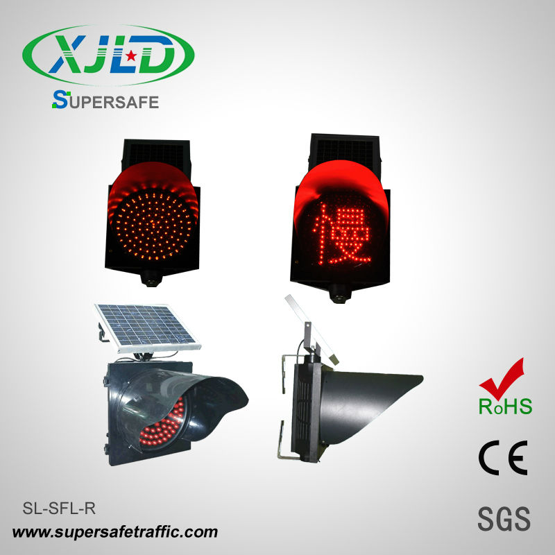 Low consumption&Long lifespan Solar powered LED Traffic Signal Light