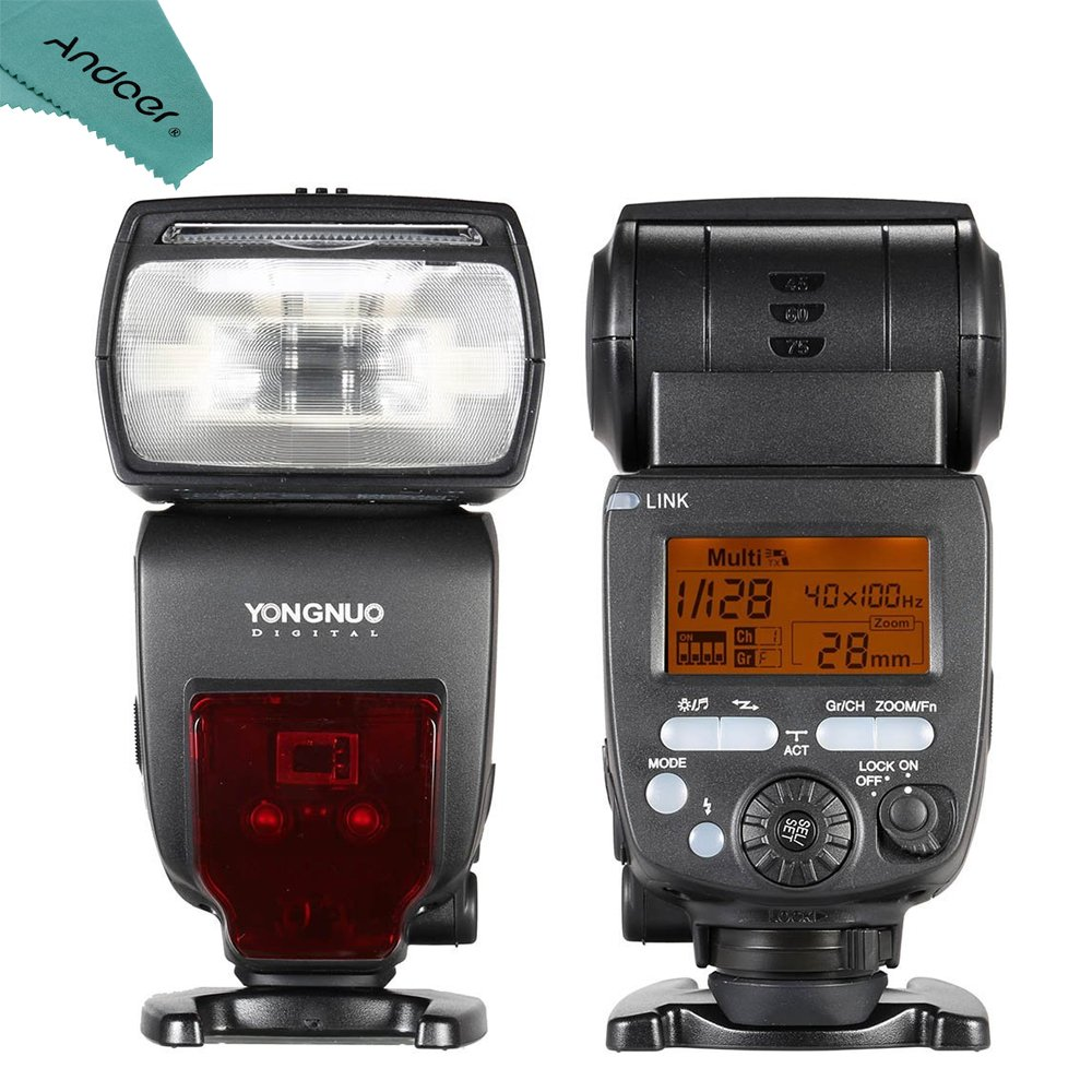 YONGNUO YN660 GN66 2.4G Wireless Master Slave Speedlite Flash for Nikon Canon DSLR Camera Compatible with YN560-TX/RF-603/RF-602/RF 603II/YN560 IV/YN560 III/RF605 (upgraded version of YN560-IV)