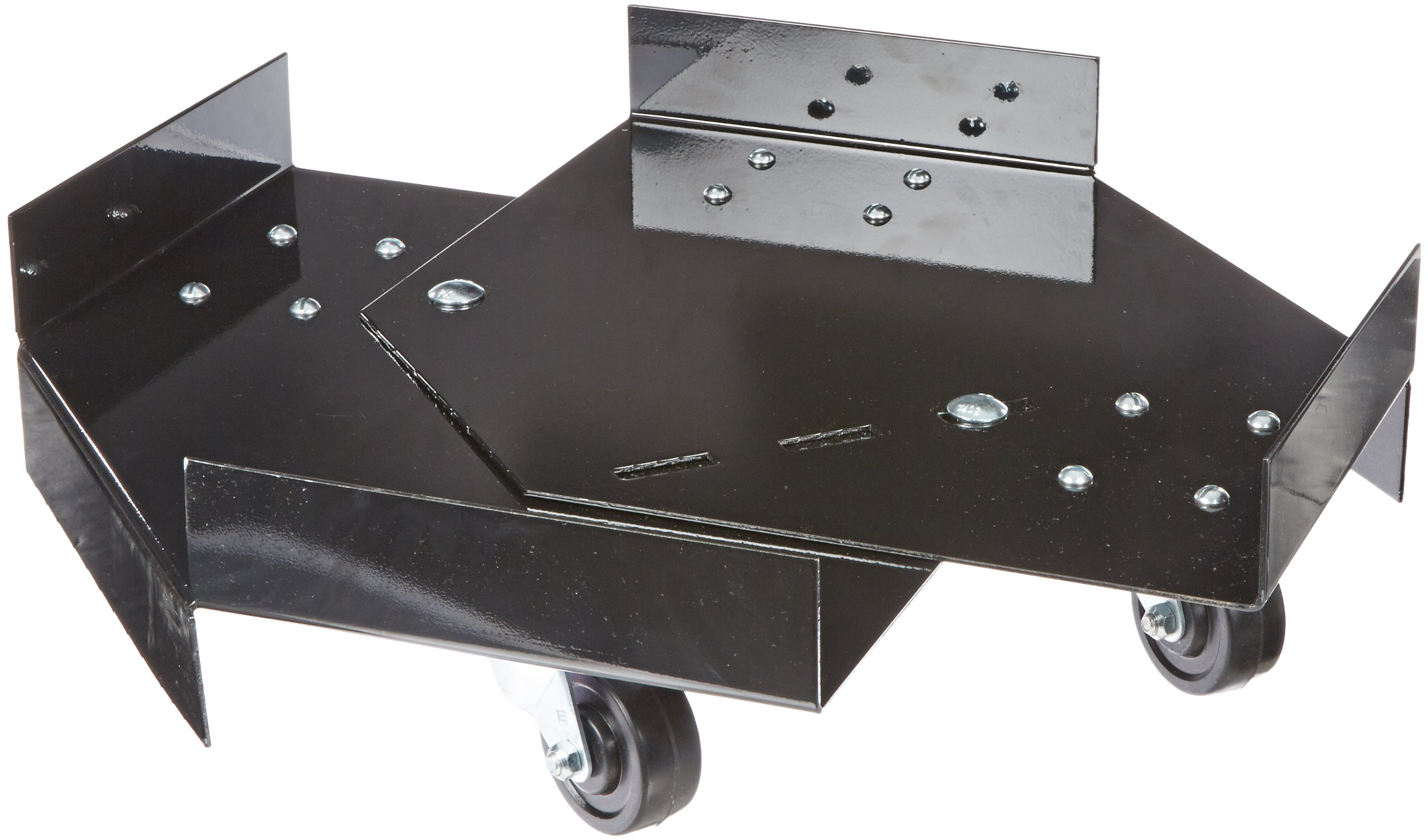 "UltraTech 0417 Steel Dolly, 800 lbs Capacity, 26-1/2"" Length x 26-1/2"" Width x 5"" Height, Black, For Ultra-Hard Top P1 Plus Spill Pallet and Ultra-Spill Collectors"