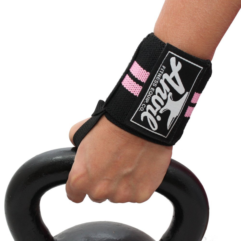 Women's Wrist Wraps - Pair of Adjustable Wrist Straps, Wrist Brace, Wrist Support Bands, Lifting Wraps for Cross fit, Bodybuilding, Fitness, Exercise and Weightlifting