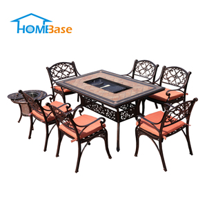 Classic Marble Dining Table BBQ Grill Chair Living Room Big Lots Outdoor Indoor Furniture H-G017-G025