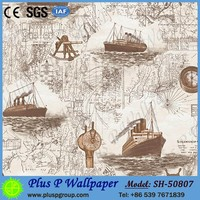 Professional chinese wallpaper mural lots for kids