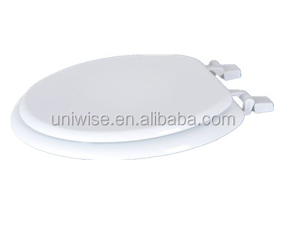 solid wood soft close toilet seat. Solid Wood Toilet Seat With Chrome Hinges  Moulded Toilet Seat Cover Soft Close MDF Cover