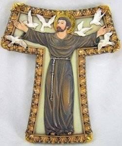 10.25-Inch Renaissance Collection Josephs Studio by Roman Exclusive Saint Benedict 2-Tone Wall Cross