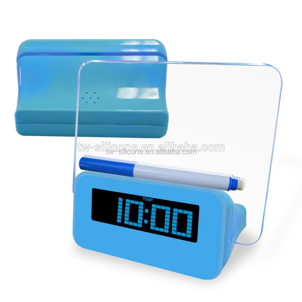 Calendrier led horloge num rique horloge de bureau r veil avec concentrateur usb buy horloge for Grande horloge murale solde