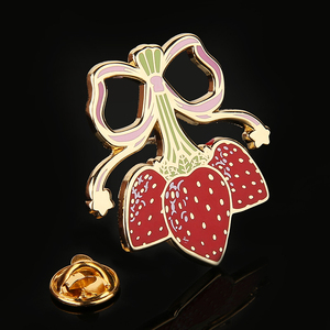 Girl's Lovely Flower lapel pin Manufacturers Supply Custom Logo Hard Enamel pin