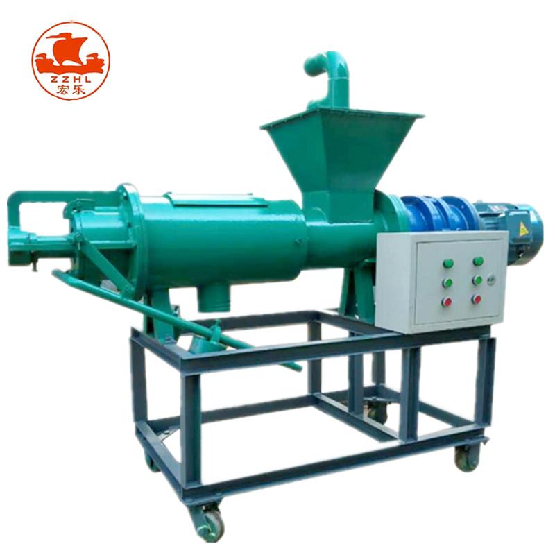 Screw Press Cow Manure Dewater Machine With Pump/ Cow Manure Solid-liquid Separator