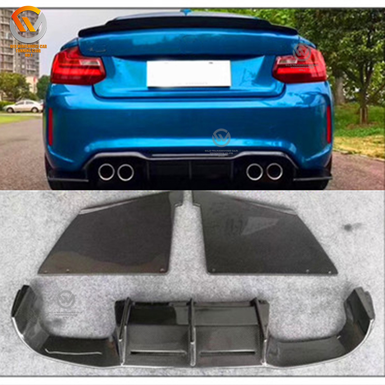 MTC Type Carbon Fiber Rear Bumper Diffuser Lip Fits on 2016+ F87 M2 only