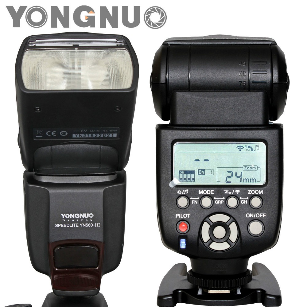 Yongnuo flash camera dslr flash 560 iii YN560III yn 560 iii Wireless flash speedlite for cannon camera Nikon Pentax DSLR camera