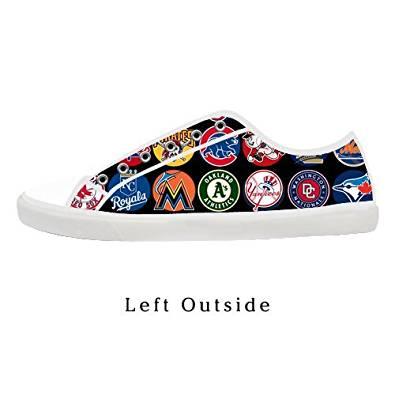 Men's NFL Logos Low Top Canvas Shoes Lace-up Low Top Fashion Sneaker