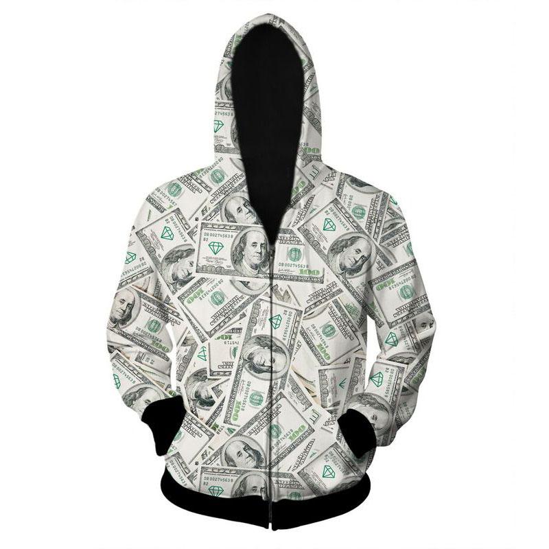 08148ceddc65 Get Quotations · 2015 Men Zipper Hoodies Dollars diamond Sport Suit Hoodies  Fitness Sport Suit Brand Gym USA Money