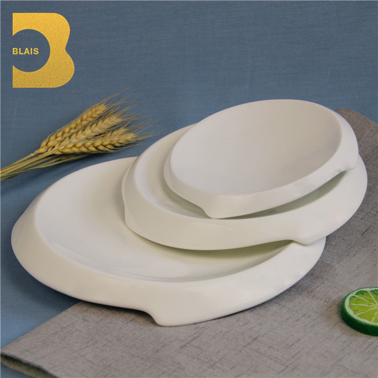 mexican tableware 7\  modern restaurant cheap white dinner ceramic taco plates & Mexican Tableware 7\