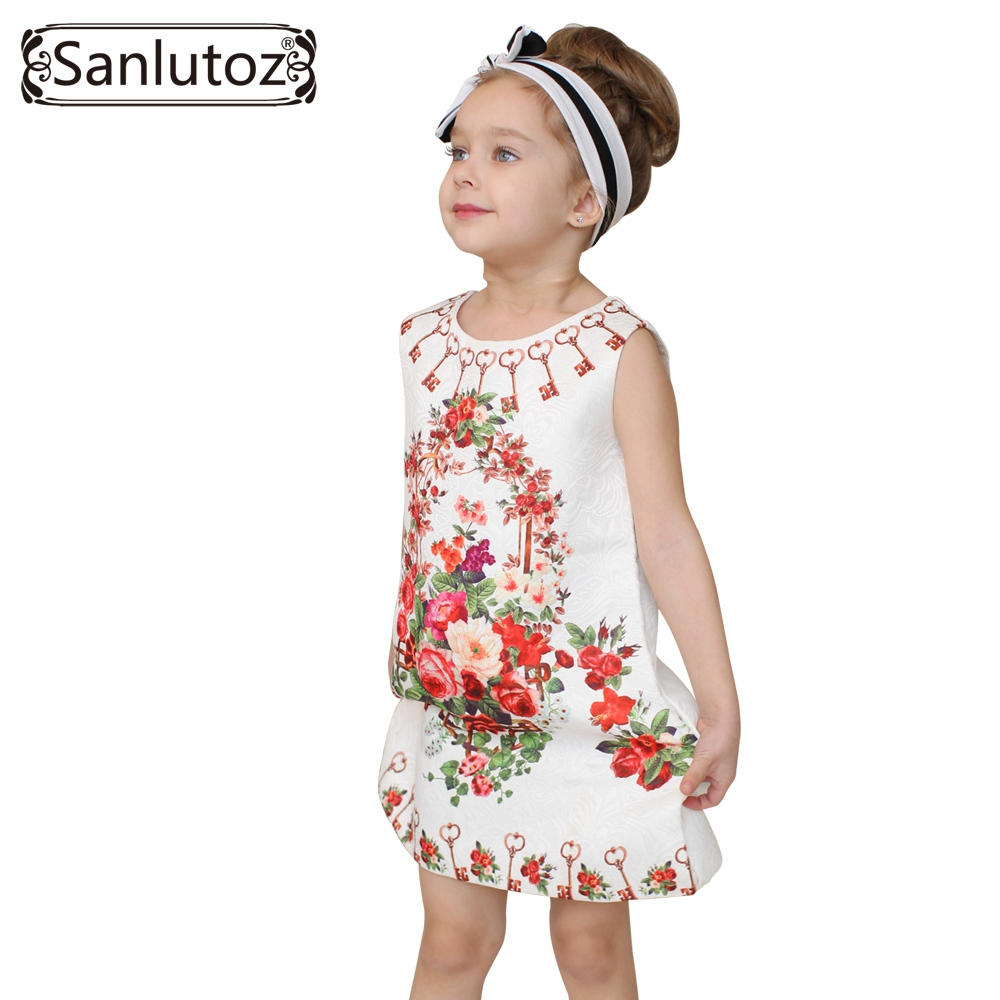 Girl font b Dress b font Flower Kids Clothes 2016 Children Clothing Brand Girls Clothes for