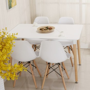 Modern Furniture New Products Cheap Modern 4 Chairs Wooden Dining Table Set