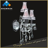 Art deco iron metal asfour centerpieces crystal wall sconce