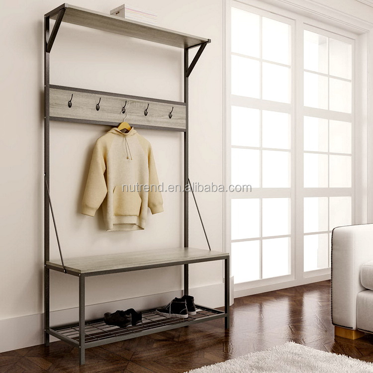 Factory Supplier coat rack and storage bench for hospital