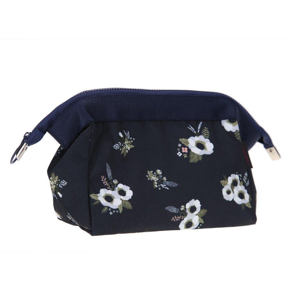 WinnerEco Cosmetic Bag Female Zipper Makeup Storage Case Pouch for Travel Kit Organizer (Black)