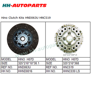 HND063U HNC519 Tractor Clutch Cover Assembly for Hino Exedy Clutch Kit