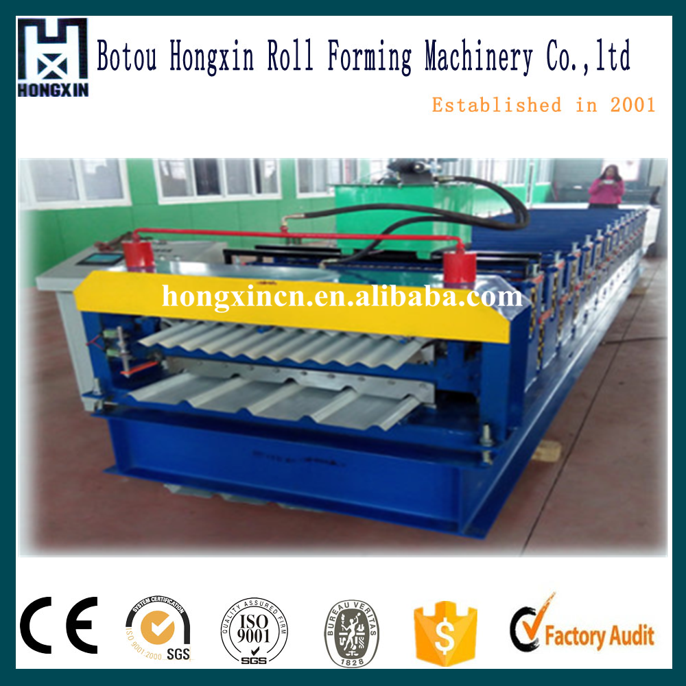 840/850 double deck roll forming machine for rollforming roof tile , double layer making machine price