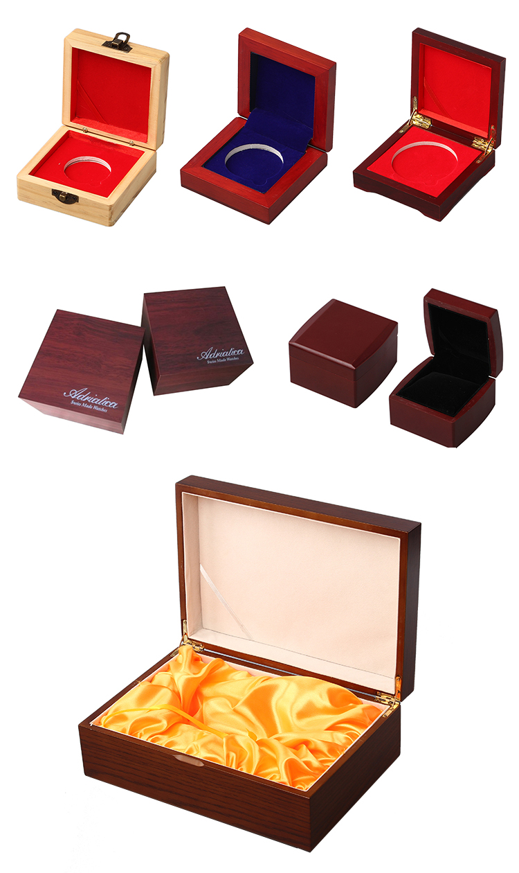 2019 Classical Single Luxury Gift Case Packaging Jewelry Watch Wooden Boxes