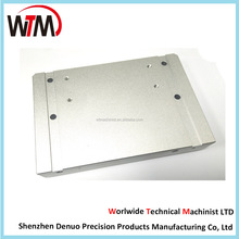 precision cnc machining of aluminum faceplate/aluminum shell with clear anodizing