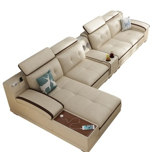 Modern Customizable corner combination customized Genuine leather sectional sofa L Shaped Living Room Set 7 Seater Couch