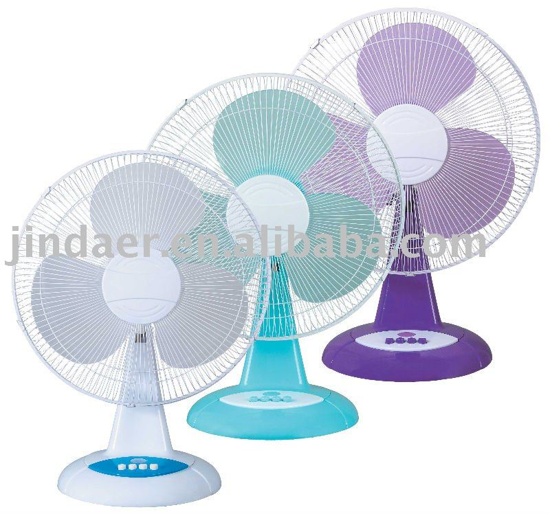 "12'/16"" inch colorful new design cooling with lamp or timer table fan"
