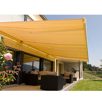 Waterproof Retractable Polyester Awning With Aluminum Frame