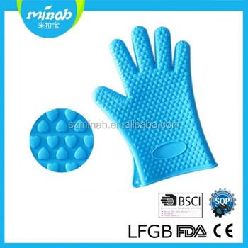 Caucho de silicona resistente al calor microondas baratos guantes mitones del horno para hornear - Silicona para microondas ...