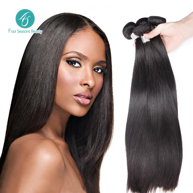 Malaysian virgin hair Top Selling Natural Color Malaysian Straight Hair 3PCS Human Hair Free Shipping Rosa