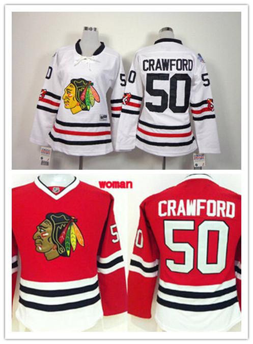 NHL Jerseys Womens Chicago Blackhawks 50 Corey Crawford Women 2015 Winter  Classic Ice ... 989b75c29