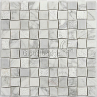 travertine white mosaic tile