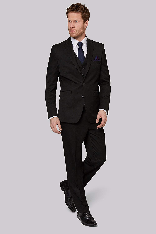 af35a04c Buy Moss Esq. Men's Regular Fit Black Mix And Match Suit Pants ...