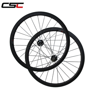 CSC 25mm Wide Thru Axle 38mm Tubular Carbon Road Cyclo Cross Wheels