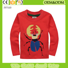 new uang t shirts boys clothing long sleeve red background tee 100% cotton t shirt