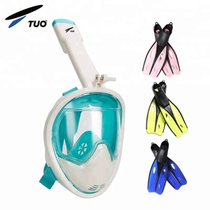 Amazon 2018 Underwater Breathing Apparatus Free Breath Full Face Snorkel Mask Fashional Scuba Adult Diving Mask