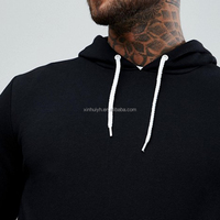 Custom Print Your Own Design 100% cotton French Terry Men's Pullover Hoodie Cheap Wholesale