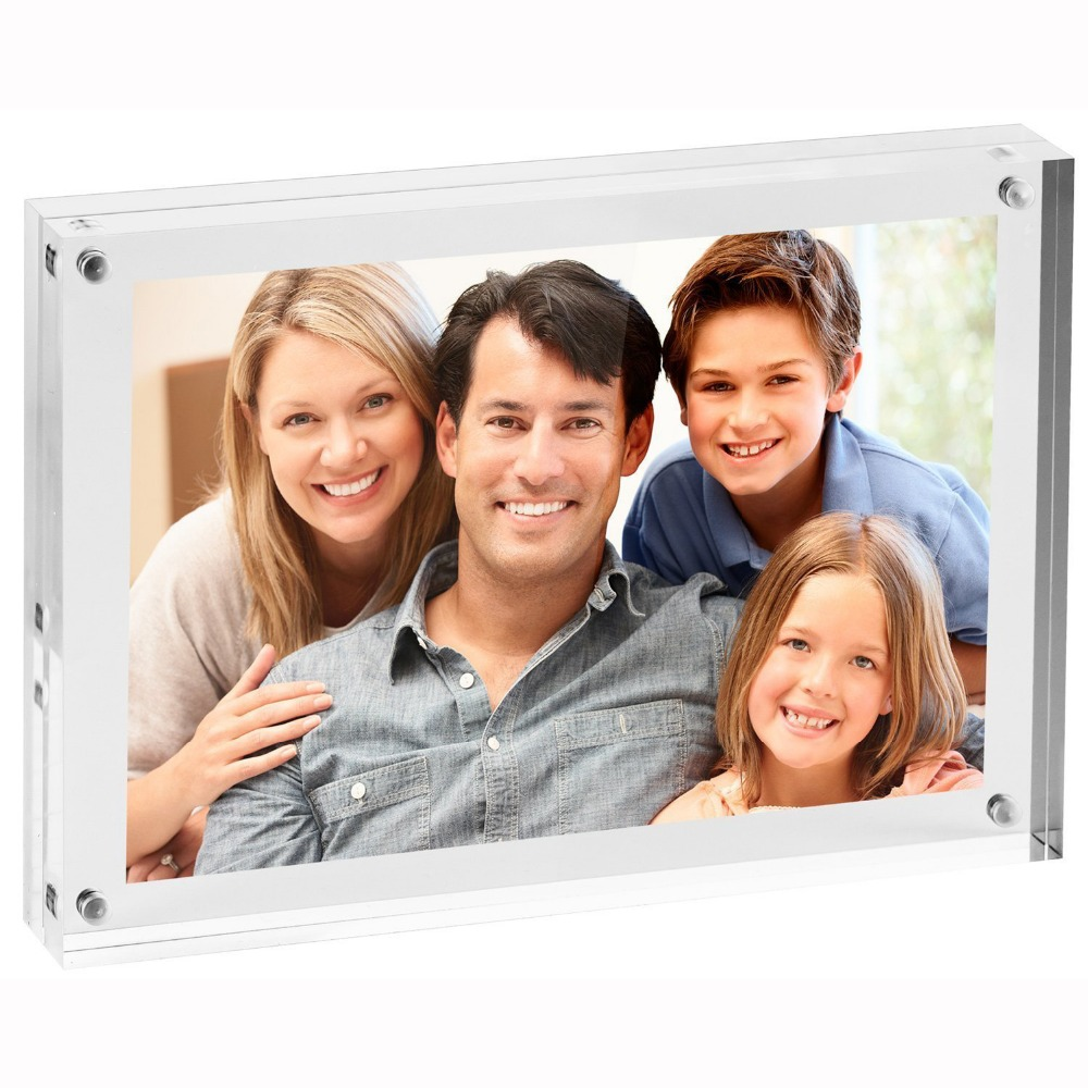 New Design Hot Sell Factory Price Double Sided Magnetic Desktop Acrylic Mini Photo Waterproof Picture Frame