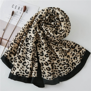 Wholesale Customised Womens Fashion Tiger Print Polyester Scarves