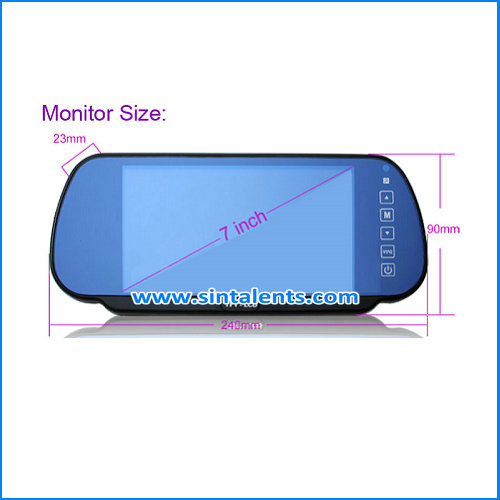 5 Inch digital touch button waterproof auto car reverse monitor