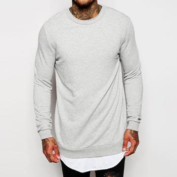 Custom Plain Longline Wholesale Crewneck Sweatshirt Man