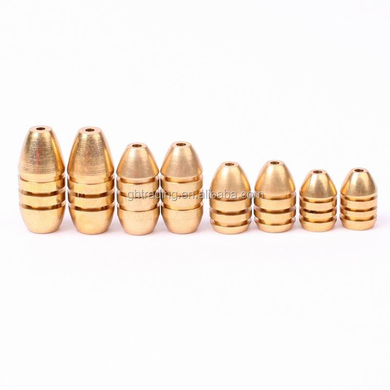 Afishlure threaded copper bullet pendant 1.8g/3.5g/5g/7g/10g pure copper fishing weights soft lure accessaries