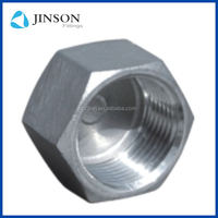 China manufacture stainless steel pipe fittings 304 hexagon head cap
