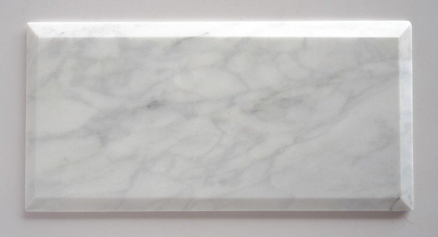 quality beveled subway tile   Buy Bianco Venatino Marble 4X8 Deep - Beveled & Honed ...